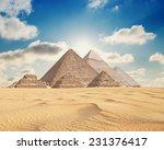pyramids in giza  | Shutterstock . vector #231376417