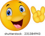 emoticon smiley giving hand sign | Shutterstock . vector #231384943