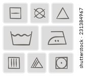 set of monochrome icons with... | Shutterstock .eps vector #231384967
