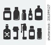 medicine bottles vector icons...   Shutterstock .eps vector #231399127