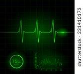 heart cardiogram vector... | Shutterstock .eps vector #231410173