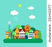 color urban landscape flat... | Shutterstock .eps vector #231410377
