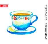 Watercolor Cup Of Tea