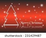 christmas tree background... | Shutterstock .eps vector #231429487