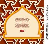 arabic islamic pattern arch... | Shutterstock .eps vector #231431617
