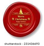 golden merry christmas design... | Shutterstock .eps vector #231436693