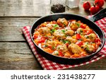 Meatballs Baked With Vegetable...