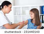 little girl receiving injection ... | Shutterstock . vector #231440143