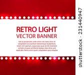 shining retro light banner.... | Shutterstock .eps vector #231440947