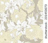vintage floral  flower seamless ... | Shutterstock .eps vector #231453073