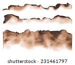 Burned Paper Edges Isolated On...