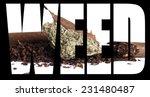 marijuana weed  | Shutterstock . vector #231480487