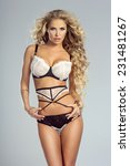 sexy blonde beautiful woman... | Shutterstock . vector #231481267