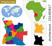 angola map with high detail and ... | Shutterstock .eps vector #231483817