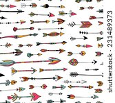 vector pattern with hand drawn... | Shutterstock .eps vector #231489373