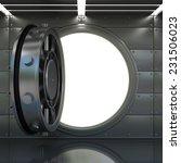 bank vault door interior. high... | Shutterstock . vector #231506023