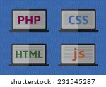 web design  coding and... | Shutterstock .eps vector #231545287