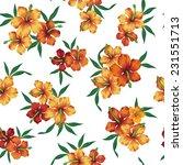 pattern of hibiscus | Shutterstock .eps vector #231551713