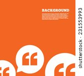 modern design background. quote ... | Shutterstock .eps vector #231553993