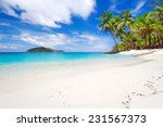 tropical beach scenery in... | Shutterstock . vector #231567373