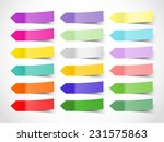 vector colorful web arrows as... | Shutterstock .eps vector #231575863