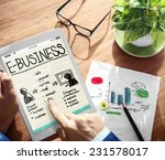 e business digital tablet... | Shutterstock . vector #231578017