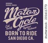 motorcycle vintage typography ... | Shutterstock .eps vector #231611773