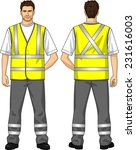 the suit for the man consists... | Shutterstock .eps vector #231616003