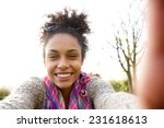 portrait of a young woman... | Shutterstock . vector #231618613