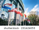 waiving flags in front of... | Shutterstock . vector #231626053
