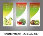 vector banner set of watercolor ... | Shutterstock .eps vector #231632587