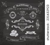 blackboard anniversary | Shutterstock .eps vector #231632923