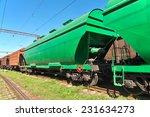 grain hoppers on the railway...   Shutterstock . vector #231634273