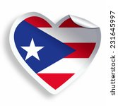 heart sticker with flag of... | Shutterstock . vector #231645997