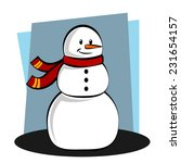 happy snowman isolated on... | Shutterstock .eps vector #231654157