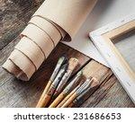 artist canvas in roll  canvas... | Shutterstock . vector #231686653