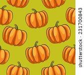 pumpkins seamless pattern  ... | Shutterstock .eps vector #231700843