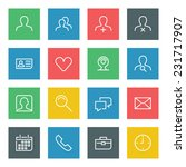 thin line vector icons set for... | Shutterstock .eps vector #231717907