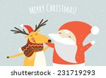 christmas greeting card and... | Shutterstock .eps vector #231719293