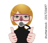 scuba diver avatar | Shutterstock .eps vector #231723697