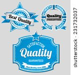 vintage blue premium quality... | Shutterstock .eps vector #231732037