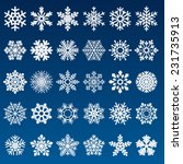 set of vector snowflakes  | Shutterstock .eps vector #231735913