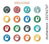 idea long shadow icons  flat... | Shutterstock .eps vector #231761767