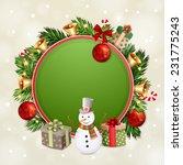 christmas illustration with... | Shutterstock .eps vector #231775243