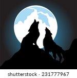 wolves howling background | Shutterstock .eps vector #231777967