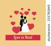love illustration over color... | Shutterstock .eps vector #231781843