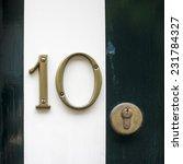 Bronze House Number Ten....