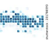 blue tech squares on white... | Shutterstock .eps vector #231788593