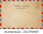 airmail backside blank postcard. | Shutterstock . vector #231796987