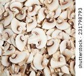 Mushrooms Sliced For Frying.